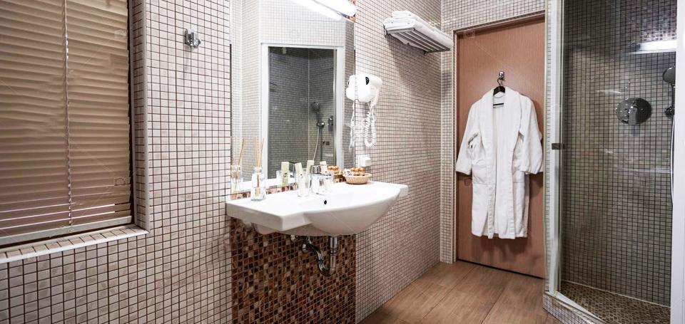 accesorio cuarto de baño perchas