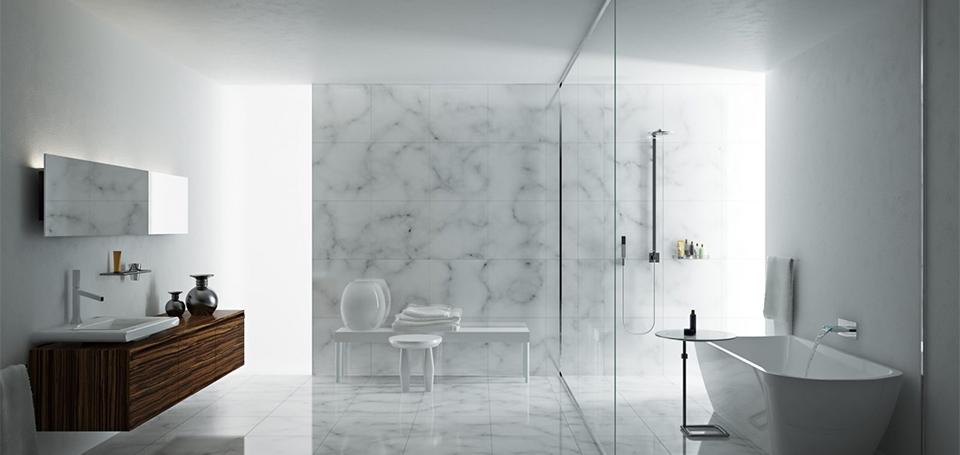 accesorios para baño minimalista